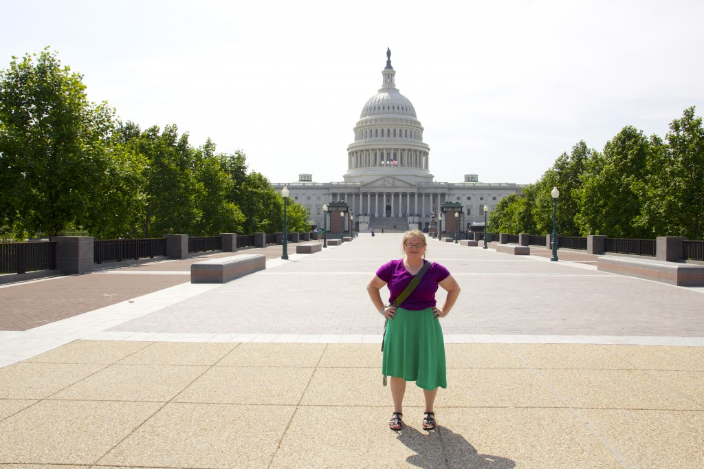 Me posing in front of the Capital building in DC.
